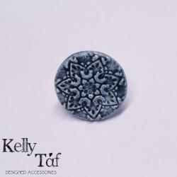 Δαχτυλίδι κεραμικό με στρόγγυλο μοτίφ